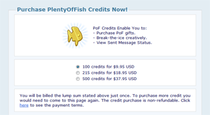 Plenty of Fish New Goldfish Credits - Dating Sites Reviews