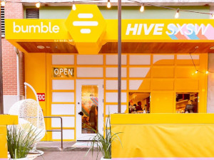 Bumble coffee shop at the SXSW festival