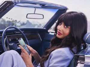 Jameela Jamil using Bumble