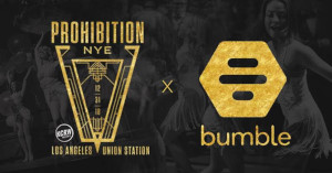 Bumble Sponsers Prohibition NYE in downtown Los Angeles
