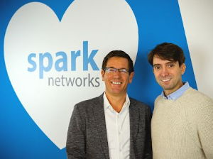 New Spark Networks CEO Erich Eichmann  is on the left beside board director Jeronimo Folgueira