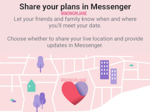 Facebook Dating allows you to share your location.