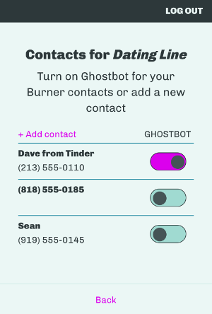 Use GhostBot to ghost those bad dates.