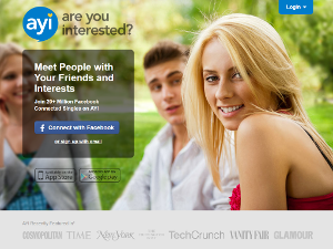 Ayi - online hookup through your friends and interests