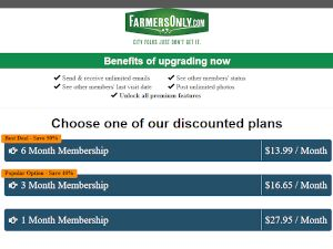 FarmersOnly Subscription Costs