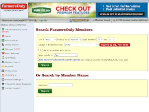 Farmers Only Member Search Tool