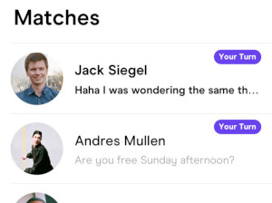 Hinge Matching with Your Turn