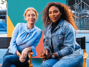 Bumble CEO Whitney Wolfe Herd and Serena WIlliams
