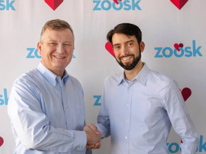 CEO of Spark Networks Jeronimo Folgueira and outgoing CEO of Zoosk Steven McArthur