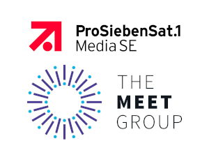 ProSiebenSat.1 Media SE and The Meet Group Logos