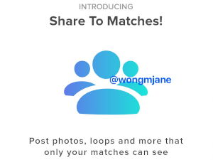 Tinder Share to Matches