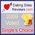 2009 Dating Sites Reviews Single's Choice Award - Gold
