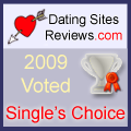 2009 Dating Sites Reviews Single's Choice Award - Silver
