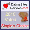2010-Dating-Websites Bewertungen Choice Award Einsitzer - Bronze