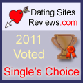 2011 Dating Sites Reviews Single's Choice Award - Bronze