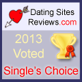 2013 Dating Sites Reviews Single's Choice Award - Gold