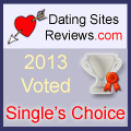 2013 Dating Sites Reviews Single's Choice Award - Silver