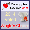 2014 Dating Sites Reviews Single's Choice Award - Silver