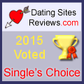 2015 Dating Sites Reviews Single's Choice Award - Gold