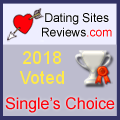 2018 Dating Sites Reviews Single's Choice Award - Silver