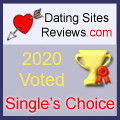 2020 Sitios de citas Comentarios Premio Single's Choice - Oro